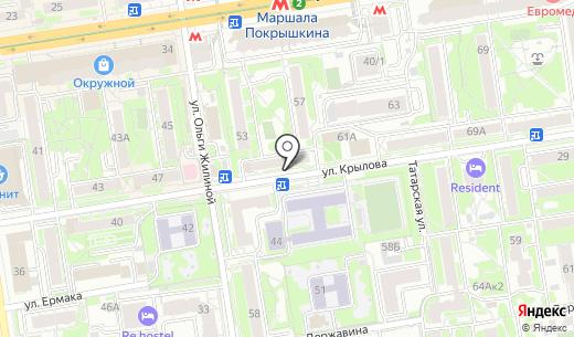 Лидер. Схема проезда в Новосибирске