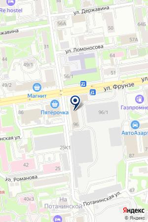 ТАКСИ СЕРВИС на карте Новосибирска