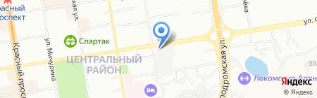 БТИ 54 на карте Новосибирска