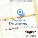 Очкарик на карте Новосибирска