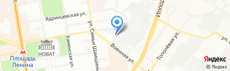 ТРИЭС на карте Новосибирска