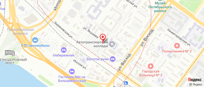 Карта расположения пункта доставки Новосибирск Сакко и Ванцетти в городе Новосибирск