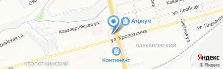 Александрия на карте Новосибирска
