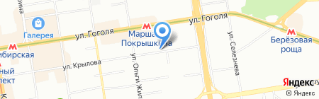 Райдо на карте Новосибирска