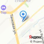 КУБ на карте Новосибирска