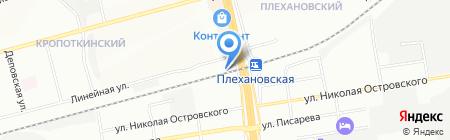 Автостоянка на ул. Кропоткина на карте Новосибирска