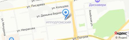 Манэки на карте Новосибирска
