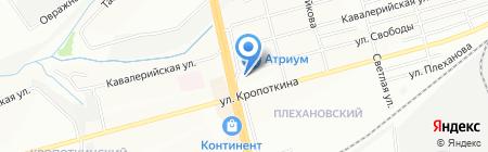 Буран на карте Новосибирска