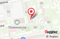Схема проезда до компании Вершина в Новосибирске