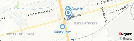 Киоск по продаже мороженого на карте Новосибирска