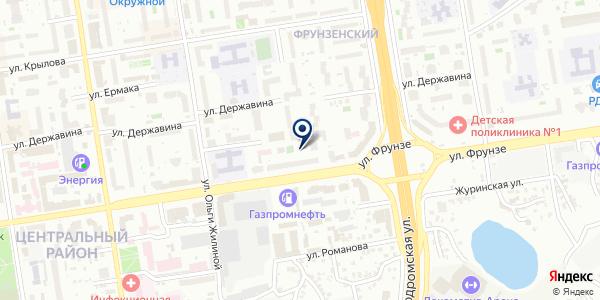 АБН Клининг на карте Новосибирске