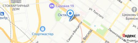 Сиб-Регион на карте Новосибирска