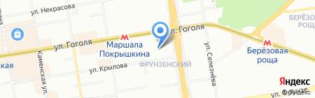 СБС на карте Новосибирска