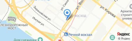 Солнечное на карте Новосибирска