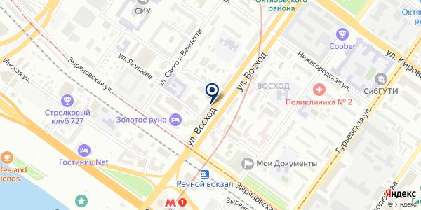 Ателье по ремонту и пошиву одежды на карте Новосибирске