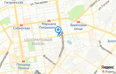 Местоположение на карте пункта техосмотра по адресу г Новосибирск, ул Фрунзе, д 142