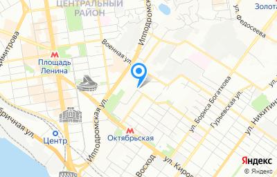 Местоположение на карте пункта техосмотра по адресу г Новосибирск, ул Белинского, д 1