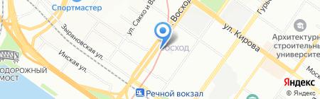 ОГНИ НОВОСИБИРСКА на карте Новосибирска