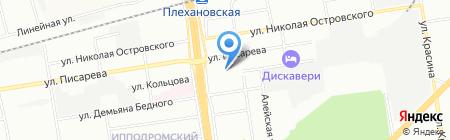 Вентана на карте Новосибирска