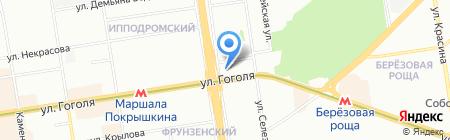 Азбука выбора на карте Новосибирска