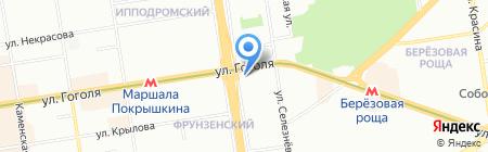 Принтерком на карте Новосибирска