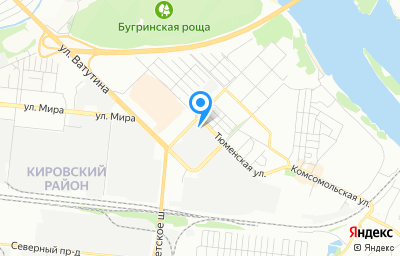 Местоположение на карте пункта техосмотра по адресу г Новосибирск, ул Тюменская, зд 2