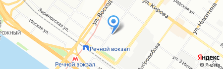 Опора на карте Новосибирска