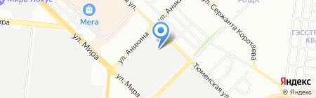 Ардинал на карте Новосибирска