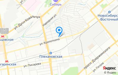 Местоположение на карте пункта техосмотра по адресу г Новосибирск, ул Войкова, д 124