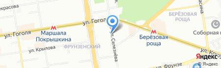 Незабудка на карте Новосибирска