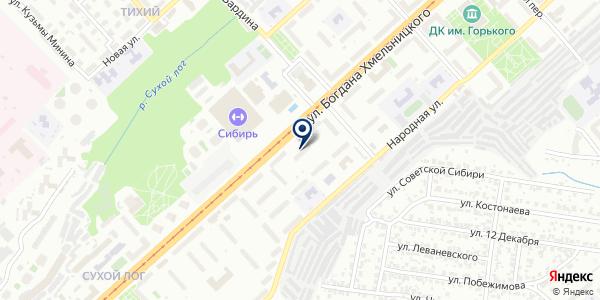 Салон продажи и ремонта оптики на карте Новосибирске