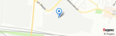 Сибирский бетон на карте Новосибирска