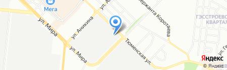 Вектор-Пласт на карте Новосибирска