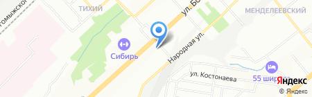 Лисма-С на карте Новосибирска