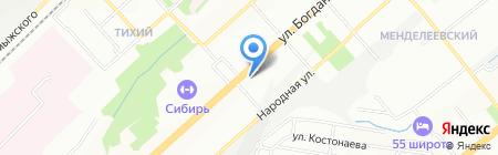 Sun Club на карте Новосибирска