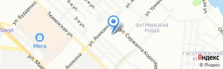 Экспресс на карте Новосибирска
