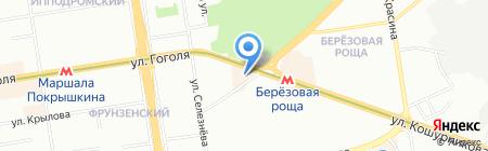 АлДи на карте Новосибирска