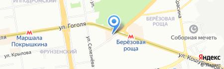 Авангард на карте Новосибирска