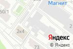 Схема проезда до компании Планета-К в Новосибирске