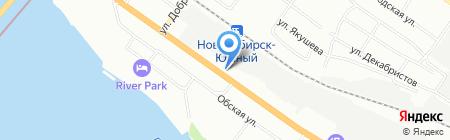 Навна на карте Новосибирска