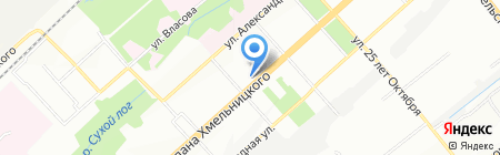 Калинка на карте Новосибирска