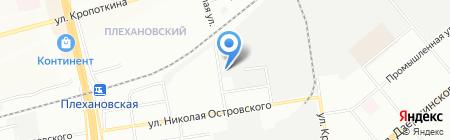 Млечный путь на карте Новосибирска