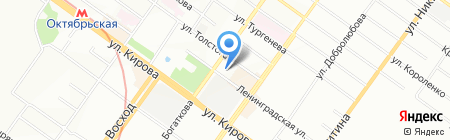 СантехКреп на карте Новосибирска