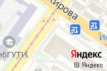 Схема проезда до компании Планета Обои в Новосибирске