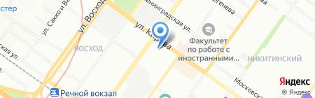 Лигастрой на карте Новосибирска