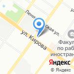Серовъ на карте Новосибирска