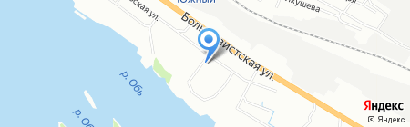Элиз на карте Новосибирска