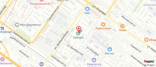 Карта расположения пункта доставки Новосибирск Добролюбова в городе Новосибирск