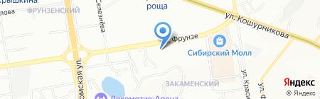 Amber на карте Новосибирска