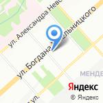 Сибирский Вариант на карте Новосибирска